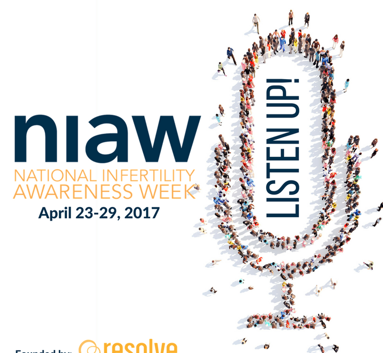 NIAW National Infertility Awareness Week 2017, April 23-29